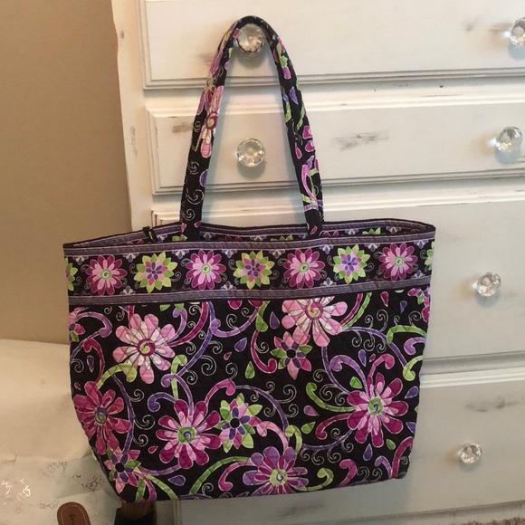 Vera Bradley Bags   Large Tote Bag In Purple Punch   Poshmark e0258a460d